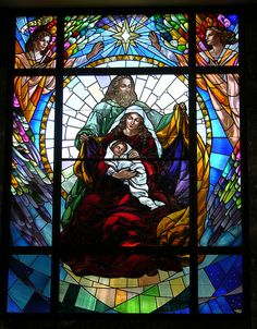 Stained Glass in the Holy Family Mausoleum, Kansas City, MO                                                                                                                                                                                 Mais