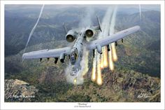 "Warthog"" Mark Karvon Giclee Print A 10 Thunderbolt II Over ..."
