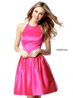 Halter High Sherri Hill 51273 Halter Neck Homecoming Dress Sale