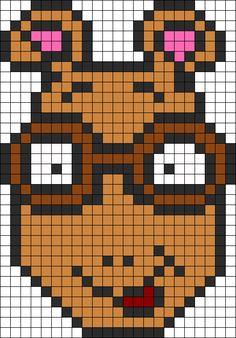 Arthur Perler Bead Pattern / Bead Sprite