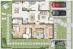 PERFEITO!    plantas-de-casas-térreas-modernas