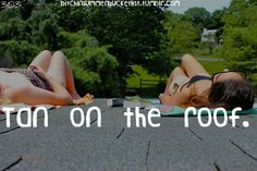 Summer Bucket list. I'm going to do this.