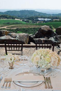 gorgeous vineyard wedding at Chalk Hill Estate in Sonoma - photo by Cliff Brunk | via junebugweddings.com