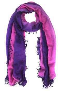 Ombre Fringe Scarf - Purple/Orchid - La Fiorentina              My favorite colors!
