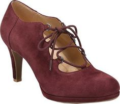 Vintage Style Shoes, Vintage Inspired Shoes Womens Naturalizer Macie Lace Up Heel $119.95 AT vintagedancer.com