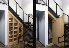 hidden storage or safe room access