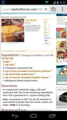 Denver egg casserole