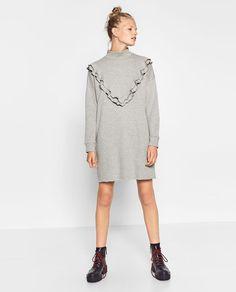 FRILL NECK DRESS-DRESSES-WOMAN | ZARA United States