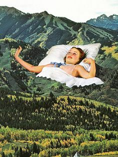 mountain as bed