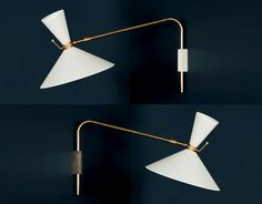 Pierre Guariche French mid century  wall sconcees