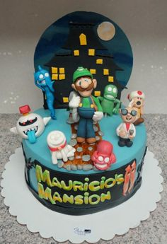 Luigi's Mansion Cake - Cake by Paladarte El Salvador Mario Birthday Party, 3rd Birthday Cakes, Mario Party, Luigi Cake, Mario Cake, Luigi's Haunted Mansion, Luigi Bros, Luigi Mansion, Bolo Super Mario