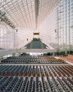 Crystal Cathedral, Garden Grove, Orange County, California. Architects:  Philip Johnson, John Burgee.  Christoph Morlinghaus