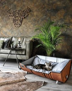 Indoor Cat House Styles That Make Your Cat Happy - Home Garden: Inspiring Interior, Outdoor and DIY Ideas Interior Design Living Room, Living Room Designs, Living Room Decor, Earthy Home Decor, Industrial Living, Pet Furniture, Small Room Bedroom, Home Living, My New Room