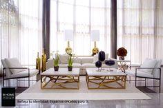 El color dorado mezclado con blanco, negro o gris aporta un aire Chic a nuestras casas, siempre que lo hagamos en pequeñas dosis.