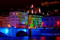 Fete des Lumieres, festival of lights, Lyon, France