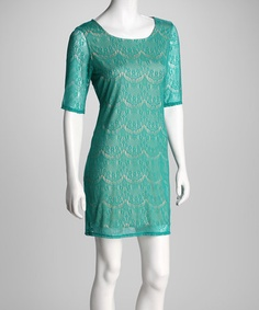 Take a look at this Speechless Jade Scalloped Eyelet Dress by Speechless on #zulily today! After baby inspiration!