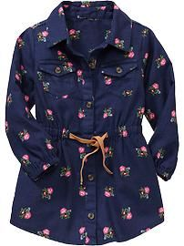 Printed Flannel Shirtdresses for Baby Product Image Frocks For Girls, Kids Frocks, Dresses Kids Girl, Little Girl Outfits, Little Girl Fashion, Toddler Fashion, Kids Fashion, Baby Dresses, Toddler Dress