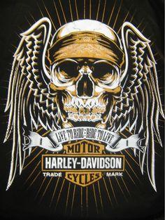 Harley-Davidson Angel Skull T-shirt - nice. Shop online at: http://www.planetharley.com/Harley-Davidson-Mens-Angel-Skull-T-shirt-p/80b1802.htm
