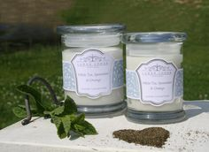 White Tea, Spearmint & Orange scented candle - Harmonising & Balancing. New collection from www.lowerlodgecandles.com launching August 2013