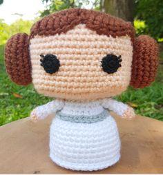 Princess Leia Crochet Amigurumi Pattern Star Wars