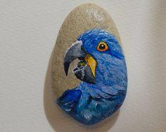 Pintados a mano de piedra mariposa por AnnamoonArt en Etsy