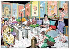 Banquetes Ancient Roman Food, Ancient Rome, Ancient Greece, Ancient Art, Ancient History, Greek Pantheon, Rome City, Roman Architecture, Medieval World