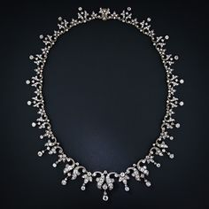 Antique Diamond Fringe Necklace- again, i need to win the lottery. this one is breath taking