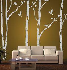 vinilo pared arboles decoración wall stickers