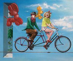 Pyörällä päästään 61x73cm