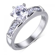 4.16$  Buy here - http://diynf.justgood.pw/go.php?t=180567501 - Stainless Steel Rhinestone Ring 4.16$