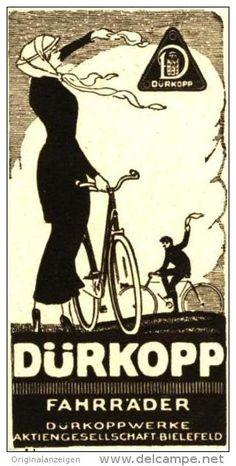 Original-Werbung/ Anzeige 1914 - DÜRKOPP FAHRRÄDER - ca. 45 x 90 mm