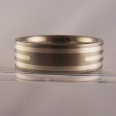 #titanium #ring with #silver inlays from RING jewellers, #brighton