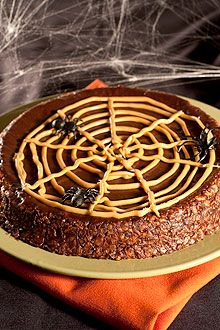 Nobody will say Boo to this frighteningly delicious chocolate, banana and peanut butter cake.