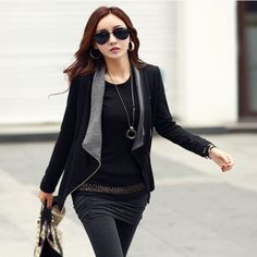 Casual Side Zipper Cardigan Jacket