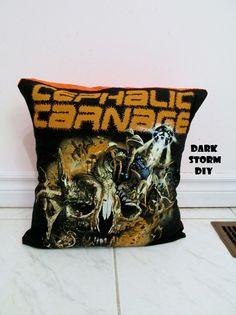 Cephalic Carnage Pillow Case DIY Death Metal Decor by DarkStormDIY, $28.00