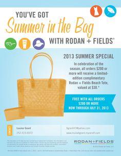 Rodan + Fields - Check out our summer special!   Visit my website:  www.louisetgrant.myrandf.com