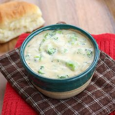 "Made this for dinner tonight and it was heaven...it's thick and creamy and filled with lots of fresh broccoli.  The Swiss gives this soup a ""kick""...definitely going in to my soup rotations!"
