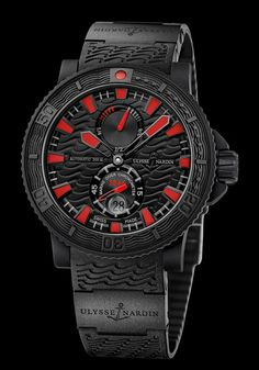 2739d71e41c0 Ulysse Nardin Diver Black Sea Limited Edition  0057 45.7mm Watch. Powerful   amp