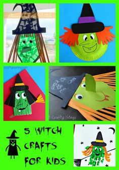 5 Witch Crafts for Kids