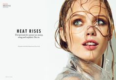 frida gustavsson beauty shoot1 Frida Gustavsson Wows in Elle Canada Beauty Shoot by Max Abadian