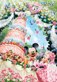 This is how I imagine Minnie and Mickey's wedding. So cute.