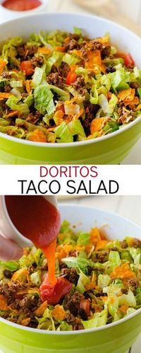 Doritos Taco Salad.This is my family's favorite weeknight dinner. So good and easy!