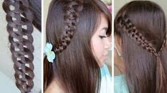 How to: 4 Strand Braid (Slide Up) Hair Tutorial, via YouTube.