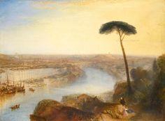 Vista di Roma dal monte Aventino, 1836, olio su tela, Joseph Mallord William Turner. Collezione privata.