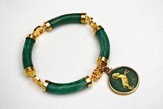 Vintage Chinese Avenurine and Nephrite Jade by serendipitytreasure, $33.00