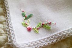 ハンカチ . #刺しゅう #刺繍 #embroidery #handembroidery #ハンカチ #handkerchief