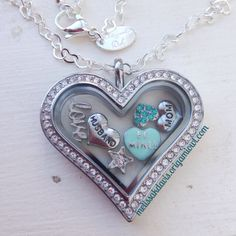 our new heart locket! This is my personal locket. What's in your locket? melissakdavis.origamiowl.com