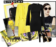 """GIVENCHY PRINT CLUTCH"" by marili71 on Polyvore  cheery yellow;)"