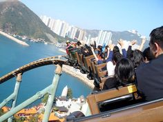 Breathtaking view from Wild West Mine Train, Ocean Park, Hong Kong