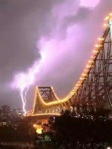 Storm In Brisbane Queensland,Australia (Story Bridge)